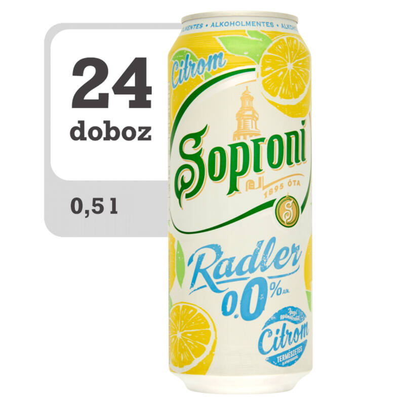 Soproni Radler citromos alkoholmentes sörital-PálinkaShop